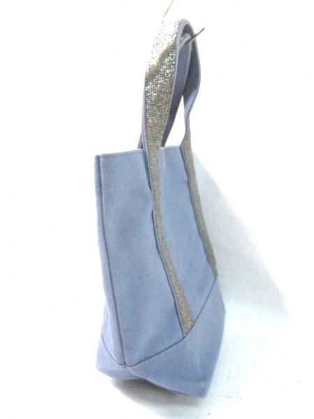 Chan Luu(チャンルー) ハンドバッグ ブルー×シルバー キャンバス×ビーズ
