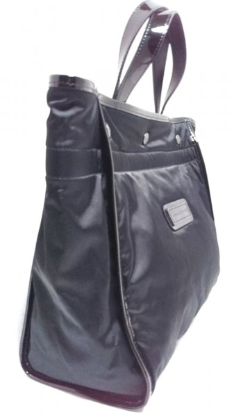 LONGCHAMP(ロンシャン) トートバッグ美品  黒 ナイロン×エナメル(レザー)