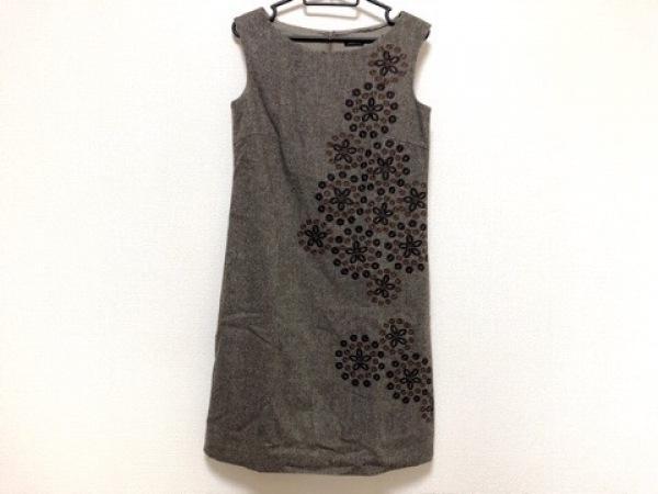 TABASA(タバサ) ワンピース サイズ36 S レディース新品同様  ブラウン 刺繍/タグ付き