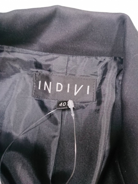 INDIVI(インディビ) ジャケット レディース 黒
