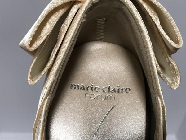 marie claire(マリクレール) パンプス 23 レディース美品  アイボリー リボン サテン