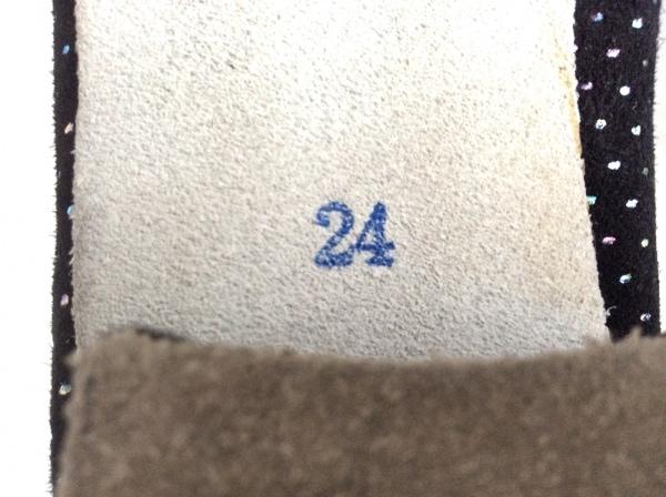 CHACOTT(チャコット) パンプス 24 レディース 黒×マルチ ラメ スエード×ナイロン
