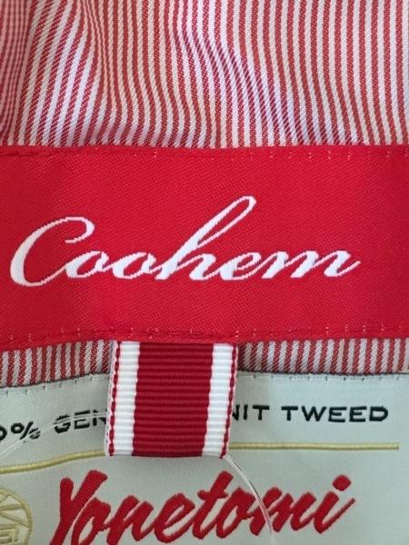 コーヘン ジャケット サイズ36 S レディース美品  ベージュ×レッド×マルチ ツイード