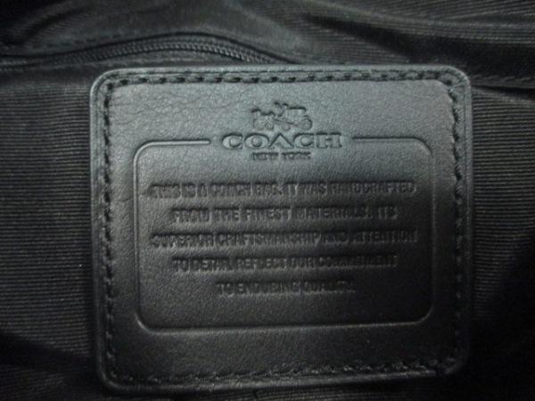 コーチ ショルダーバッグ シグネチャー ファイルバッグ F36378 黒 ジャガード×レザー