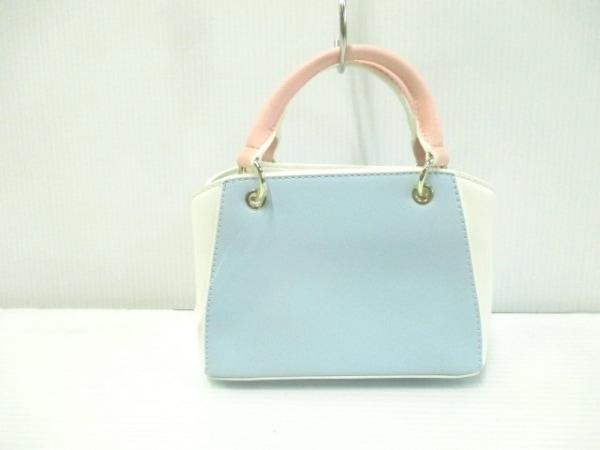 サマンサタバサプチチョイス ハンドバッグ美品  ライトブルー×白×ピンク ミニ 合皮