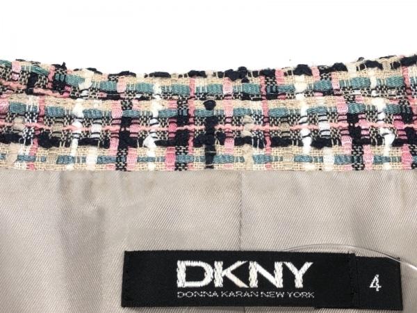 ダナキャラン ジャケット サイズ4 XL レディース ベージュ×ピンク×マルチ ツイード