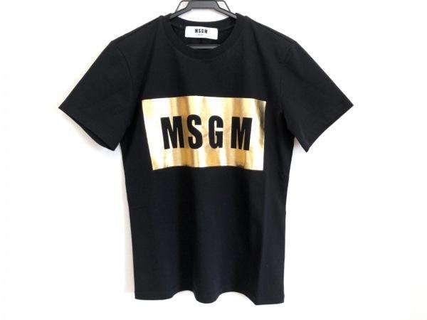 MSGM(エムエスジィエム) 半袖Tシャツ サイズXS レディース美品  黒×ゴールド