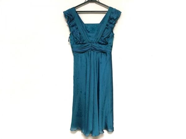 La Defence(ラデファンス) ドレス サイズ9 M レディース美品  グリーン フリル