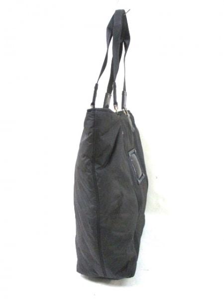 LONGCHAMP(ロンシャン) トートバッグ 黒 化学繊維×エナメル(レザー)