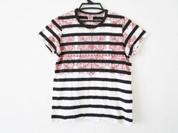 タオコムデギャルソン 半袖Tシャツ サイズS レディース 黒×白×レッド
