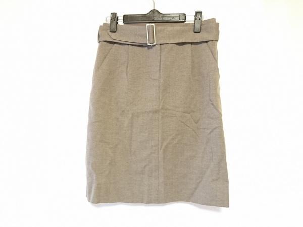 LOUIS VUITTON(ルイヴィトン) スカート サイズ34 S レディース - ベージュ