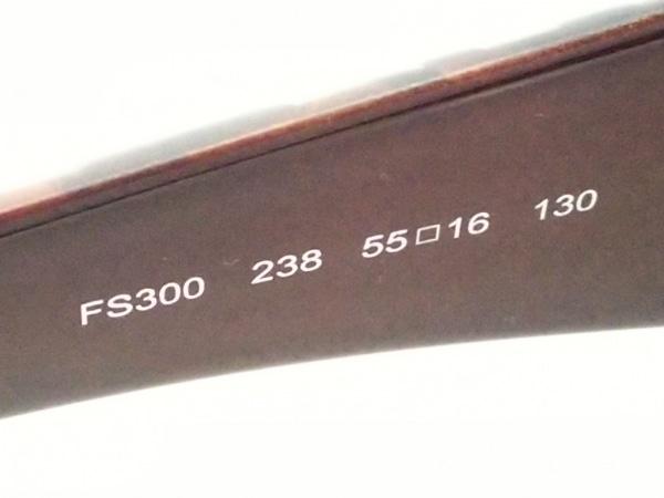 FENDI(フェンディ) サングラス コールドインサート/ズッカ柄 FS300 ダークブラウン