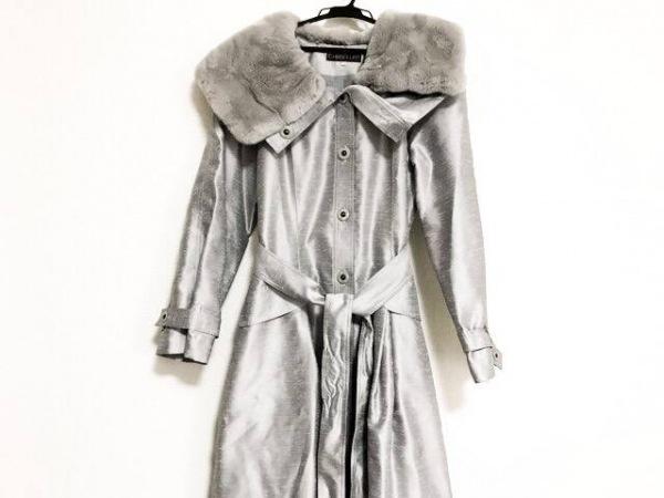 クリスセリーン コート サイズ42 L レディース美品  グレー 肩パッド/春・秋物