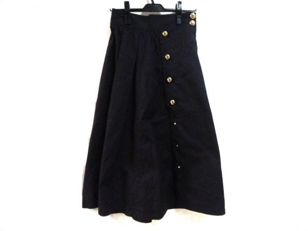 CINOH(チノ) ロングスカート サイズ38 M レディース美品  ダークネイビー