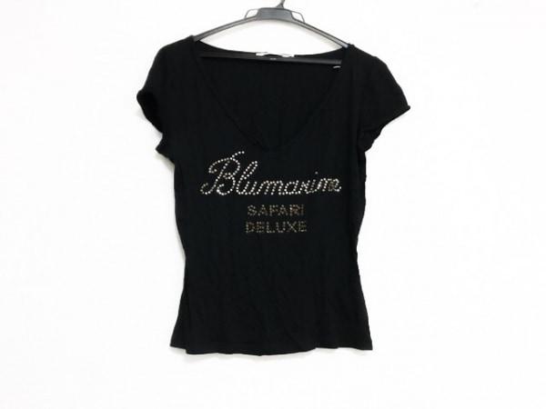 ブルマリンジーンズ 半袖Tシャツ サイズ42 L レディース美品  黒 ラインストーン