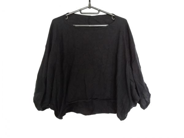 KNOTT(ノット) 七分袖セーター サイズ1 S レディース ダークネイビー カシミヤ混