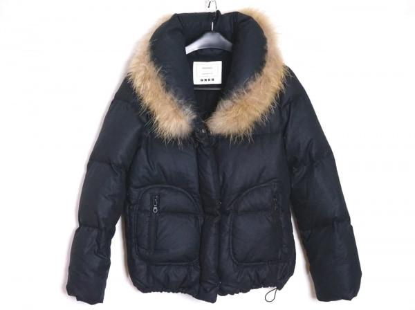 PLS+T(PLST)(プラステ) ダウンジャケット サイズ2 M レディース 黒 冬物