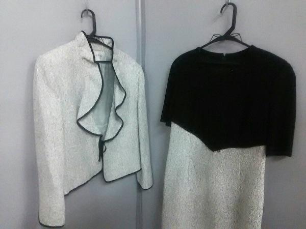JUN ASHIDA(ジュンアシダ) ワンピーススーツ サイズ11 M レディース美品  白×黒