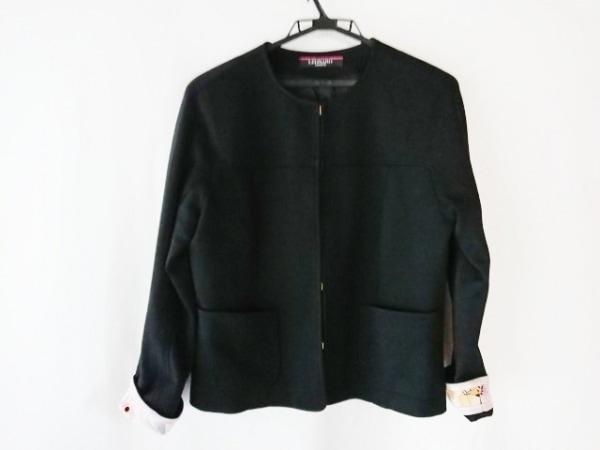 LEONARD(レオナール) ジャケット サイズ40 M レディース美品  黒×マルチ 花柄