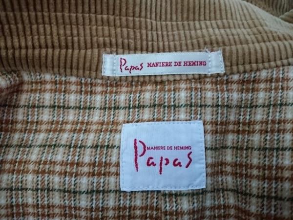 Papas(パパス) ジャケット サイズM メンズ ライトブラウン コーデュロイ