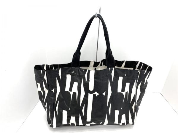 OKIRAKU(オキラク) トートバッグ 白×黒 キャンバス