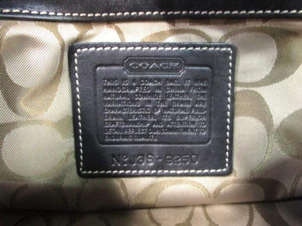 COACH(コーチ) ハンドバッグ - 9250 黒×シルバー レザー