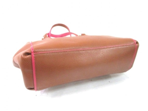 COACH(コーチ) ハンドバッグ - - ブラウン×ピンク レザー