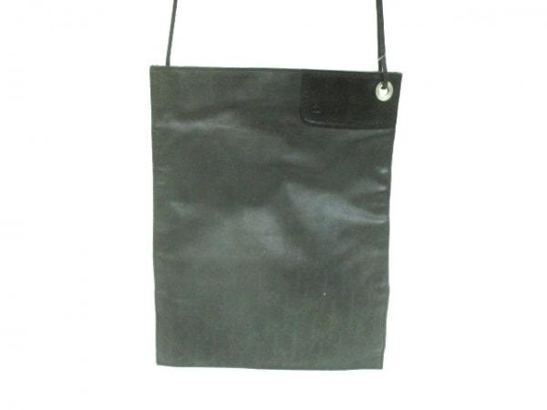 Dior HOMME(ディオールオム) ショルダーバッグ 黒 PVC(塩化ビニール)×レザー