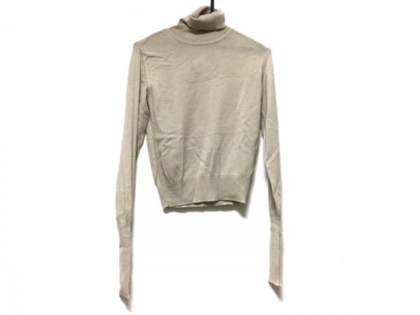 レナランゲ 長袖セーター サイズ38 M レディース ベージュ タートルネック