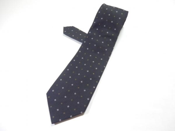 BEAMS F(ビームスエフ) ネクタイ メンズ 黒×白×ライトブラウン