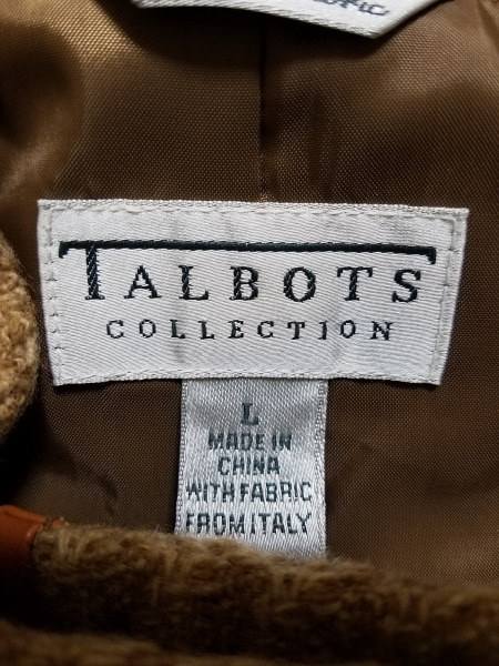 Talbots(タルボット) コート サイズL レディース ブラウン×ダークブラウン 冬物