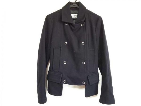 MM6(エムエムシックス) コート サイズ40 XL レディース美品  黒 ショート丈/冬物