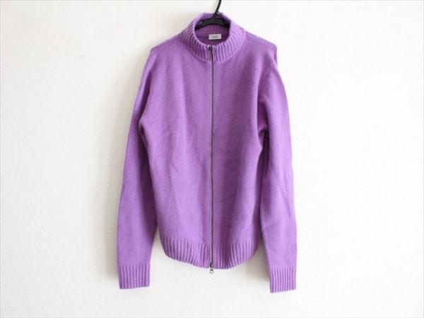 VICTOIRE(ヴィクトワール) 長袖セーター メンズ パープル ジップアップ/カシミヤ