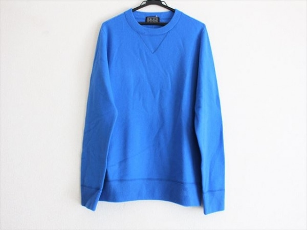 BLUE WORK(ブルーワーク) 長袖セーター サイズM メンズ美品  ブルー