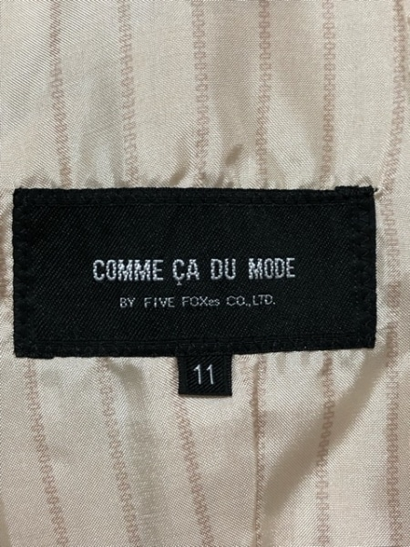 COMME CA DU MODE(コムサデモード) コート サイズ11 M レディース ベージュ 冬物