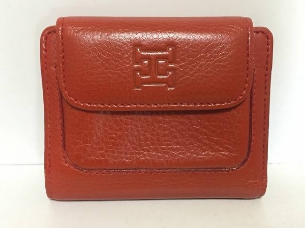 HIROFU(ヒロフ) 3つ折り財布 レッド レザー