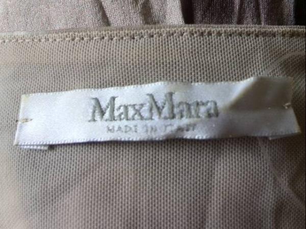マックスマーラ ワンピース サイズ40 M レディース美品  ベージュ×グレー×マルチ