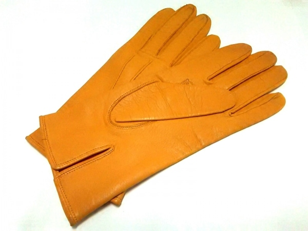 DRIES VAN NOTEN(ドリスヴァンノッテン) 手袋 レディース オレンジ レザー