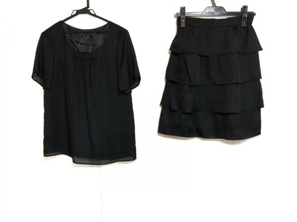 Le souk(ルスーク) スカートセットアップ サイズ36 S レディース美品  黒 シースルー