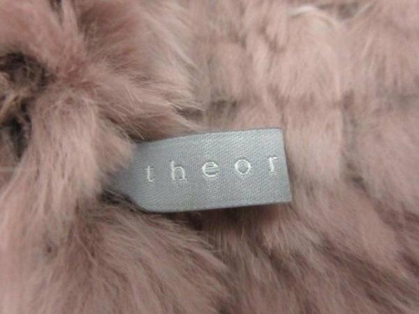 theory luxe(セオリーリュクス) マフラー ライトグレー ラビットファー ラビット