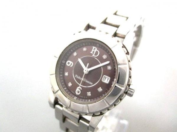ピンキー&ダイアン 腕時計 7N82-0DG0 レディース ラインストーン ダークブラウン