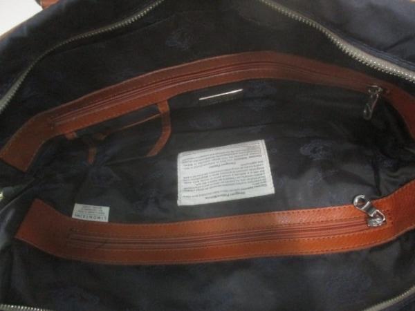 OROBIANCO(オロビアンコ) ハンドバッグ ネイビー×ブラウン ナイロン×レザー