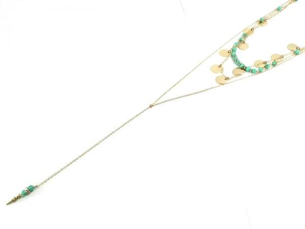Ettika(エティカ) ネックレス美品  金属素材×プラスチック ゴールド×ブルー