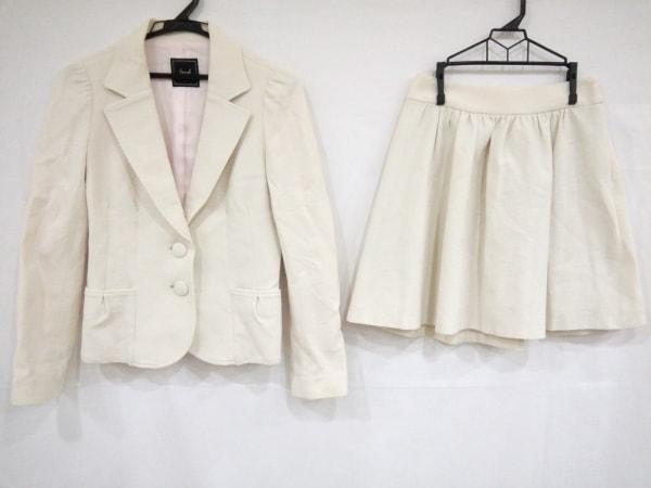 Swingle(スウィングル) スカートスーツ サイズ1 S レディース美品  アイボリー