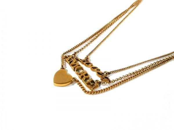 JUICY COUTURE(ジューシークチュール) ネックレス美品  金属素材 ゴールド 3連