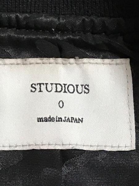 STUDIOUS(ステュディオス) ブルゾン サイズF レディース美品  黒 ロング丈