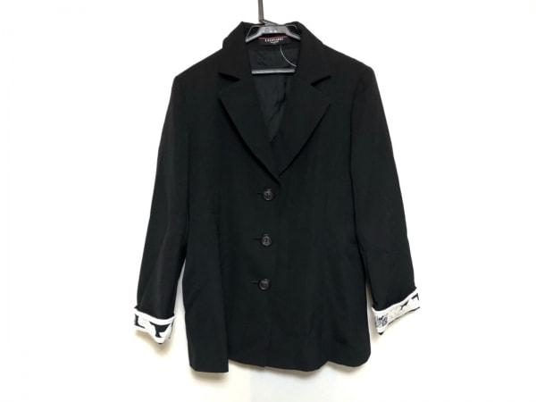 LEONARD(レオナール) ジャケット サイズ11 M レディース美品  黒×白