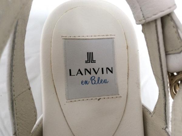 ランバンオンブルー サンダル S レディース美品  白 ウェッジソール レザー