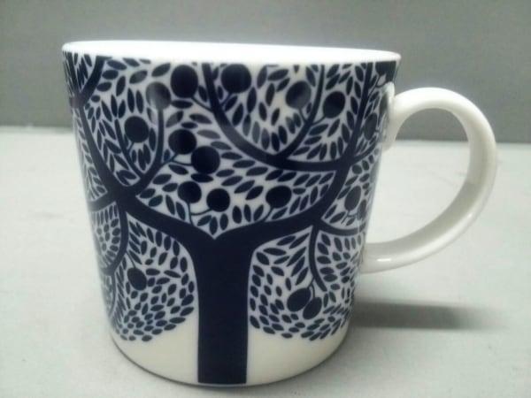 ROYAL DOULTON(ロイヤルドルトン) マグカップ新品同様  白×ネイビー 陶器