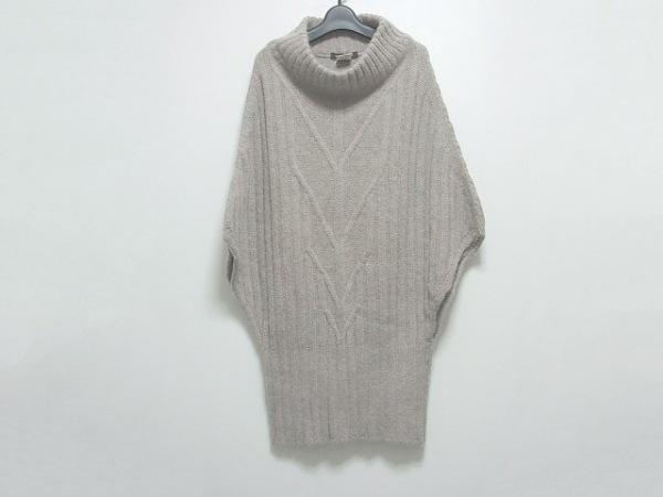 ミキミアリー 長袖セーター サイズ36 S レディース グレー ハイネック/ロング丈